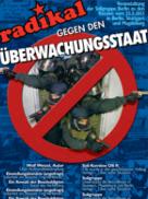"""Plakat zur Veranstaltung """"Radikal gegen den Überwachungsstaat"""" in Berlin"""