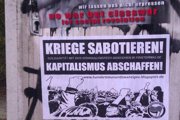 Soli-Plakate: Kriege sabotieren! Solidarität gegen §129